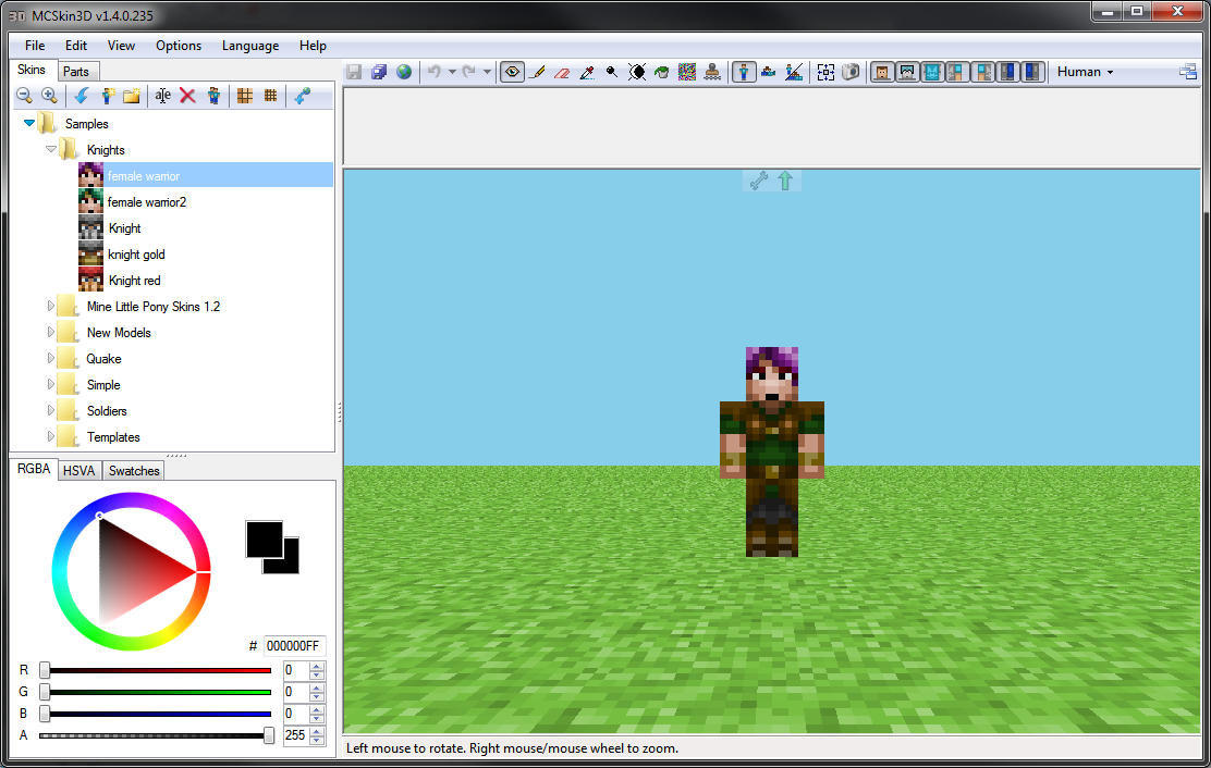 Mcskin 3d skins mapping and modding java edition 3d editor